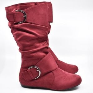 SOPD ON FB! NEW Red Boots Size 6